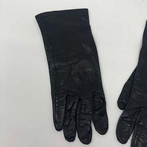 Superb Accessories - VTG Superb Leather Gloves Black 7.5 Leather Silk